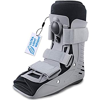 ExoArmor Ultralight Walking Boot for Sprained Ankle Stress Fracture Broken Foot or Achilles Tendonitis Air Liner Orthopedic Medical Boot  Small