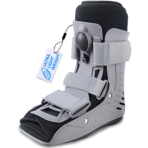 ExoArmor Walking Boot - Ultralight with In-Sole Air Pillow, Super Grip Tread and Inflatable Liner. Short Rise (Small)