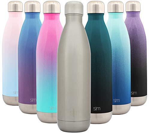 Simple Modern 750 mL Wave Borraccia Termica - Alluminio Bottiglia Acciaio Inox Acqua Termos da Viaggio per Portatile Inossidabile Borracce Termiche -Acciaio Inossidabile