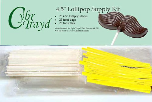 Review Of Cybrtrayd 45StK25E 25 4.5-Inch Easter Lollipop Stick Bundle with 25-Yellow Twist Ties and ...