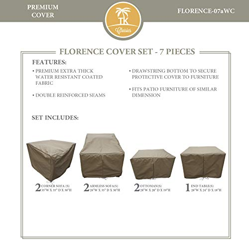 TK Classics FLORENCE-07aWC FLORENCE-07a Protective Set Covers and Storage, Beige