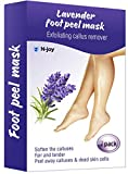 Foot Peel Mask - Exfoliating Sock Foot Mask - Peel Cuticle Remover - Foot Mask for Peeling Away Calluses and Dead Skin Cells - Get Silky Soft Feet Pedicure Kit (2 Pack) (Purple)