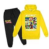 Niños 9 Colores 2 Piezas Sonic The Hedgehog Sudadera Con Capucha Y Trajes De Pantalones, Sonic...