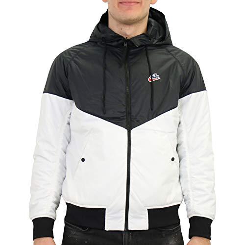Nike Sportswear Windrunner - Giacca da uomo, colore: Nero Nero (nero/bianco/corda). M
