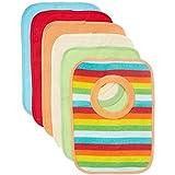 BIECO Le lot de 6 bavoirs doublés de plastique bavoir bébé, multicolore...