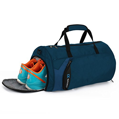 INOXTO Fitness Sport Small Gym Bag with Shoes Compartment Waterproof Travel Duffel Bag for Women and...