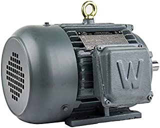 WorldWide Electric Corporation Worldwide Electric T-Frame Motor PEWWE2-18-145T, GP, TEFC, Rigid, 3 PH, 145T, 208-230/460V,...