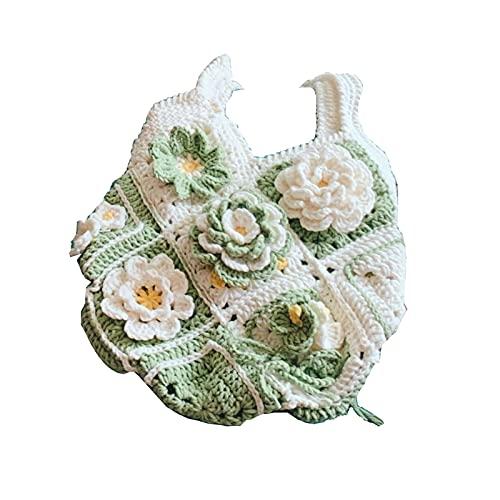 yarn Lana Hilado Lana ROVING Hecho A Mano Hecho Punto Lana Crochet Flower Material Bag Hecho A Mano Hoolen Linda Bolsa De Hombro Tejido Bricolaje Paquete de Material de Hilo de Gancho de Punto a Mano