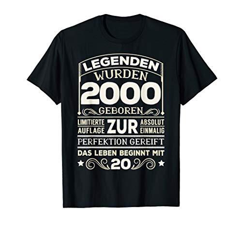 20. Geburtstag Geschenk Lustig 2000 Mann Frau 20 Jahre Party T-Shirt