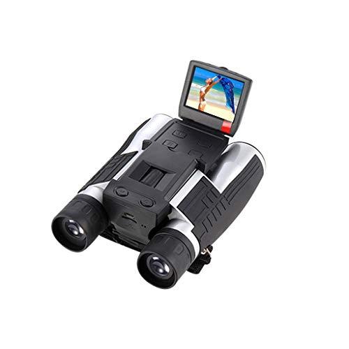 Bascar Digitalkamera Fernglas, 5M 2inch LCD 16GB Display 1080P 12 Fache Vergrößerung Foto und Videoaufzeichnung Digitales USB Fernglas mit Kamera für Vogelbeobachtung Sportspiele im Freien Konzerte