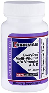 Kirkman Labs EveryDay™ Multi-Vitamin w/o Vitamins A & D - Hypoallergenic 125 capsules