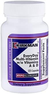 Kirkman Labs EveryDay™ Multi-Vitamin w/o Vitamins A & D - Hypoallergenic 125 capsules