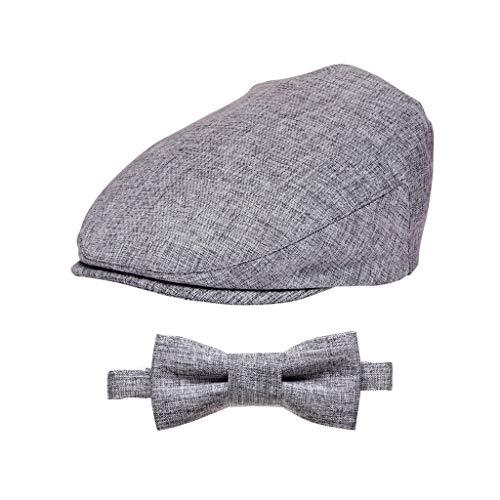 Born to Love Baby Boy's Hat Vintage Driver Caps XXS 46 cm, Gray Set