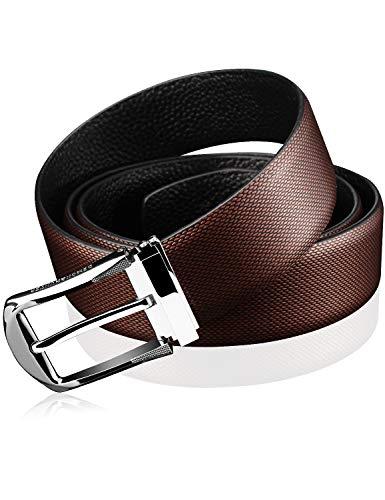 Demon&Hunter Men's Smooth Leather Designer Belt S21702(110CM)