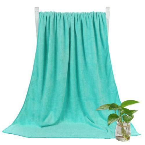 Heliansheng Toalla de baño súper Absorbente de Toalla de baño de Secado rápido de Color sólido de 140 * 70 cm -Pea Green
