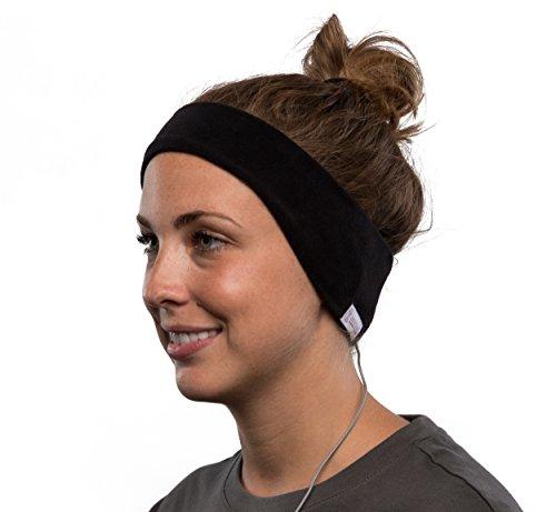 AcousticSheep SleepPhones v6 Wired Headband Headphones (2018) - Bequem zum Schlafen, Reisen, Yoga, Meditieren, Entspannen, ASMR und Binaural Beats. Fleece, mitternachtsschwarz, mittel