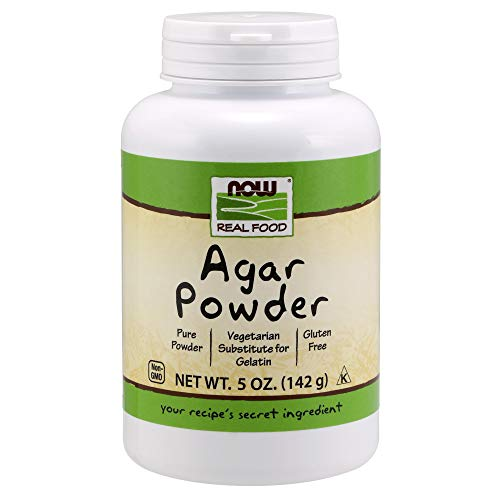 NOW Foods, Agar Pure Powder, Vegetarian Substitute for Gelatin, Gluten-free, Kosher, 5-Ounce