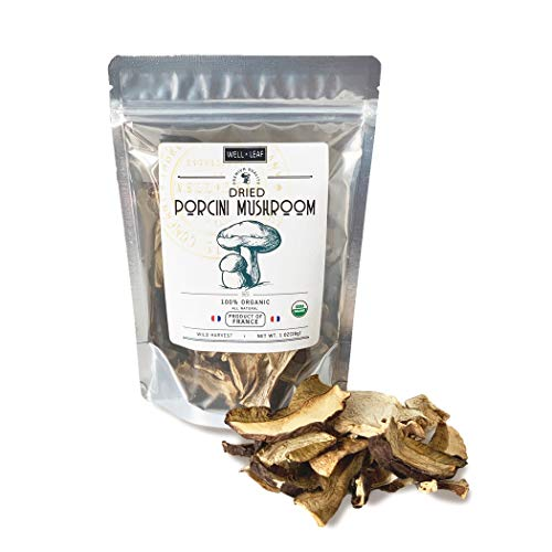 Porcini All Natural Authentic Gourmet Sliced Mushroom, Vegan and Vegetarian Friendly | Loaded with Iron, Fiber and Antioxidants, 1oz