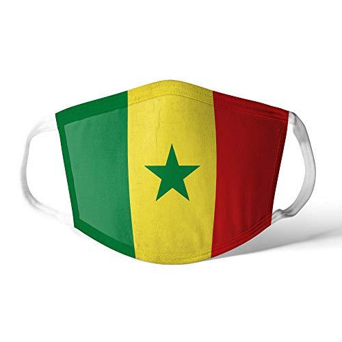 M&schutz Maske Stoffmaske Groß Afrika Flagge Senegal/Senegalese Wiederverwendbar Waschbar Weiches Baumwollgefühl Polyester Fabrik