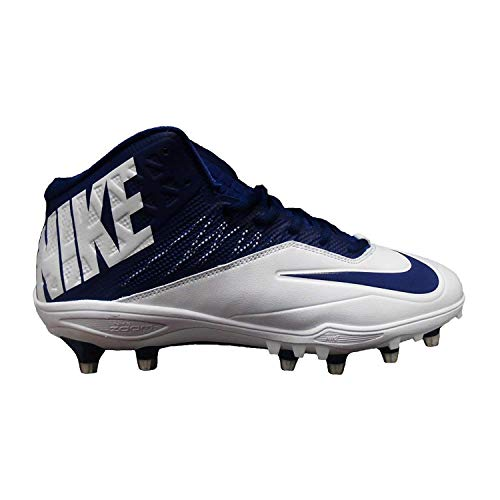 Nike Zoom Code Elite 3/4 TD Football Cleats (14, White/Navy)