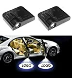 High Definition Wireless Car Door Light Logo Projector Ghost Shadow Puddle Light Welcome Light with Magnetic Activated Sensor (Compatible With BMW)