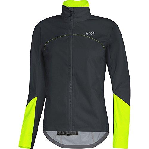 GORE Wear Women's Waterproof Road Bike Jacket, C5 Women's GORE-TEX Active Jacket, Size: L, Color: Black/Neon Yellow, 1100220