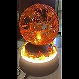 SDFDSSR One Piece Anime Doll Ace Altavoz de levitación magnética se Puede iluminar Versión Escultura Estatua Juguete Decoración Modelo Figura 22cm de Alto