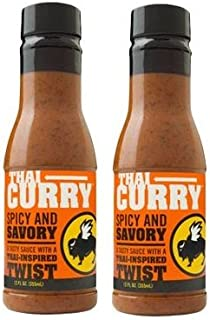Buffalo Wild Wings Barbecue Sauces, Spices, Seasonings and Rubs For: Meat, Ribs, Rib, Chicken, Pork, Steak, Wings, Turkey, Barbecue, Smoker, Crock-Pot, Oven (Thai Curry, (2) Pack)