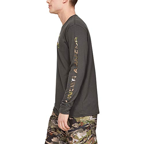 Under Armour Herren Camo Fill Langarm T-Shirt Charcoal (019)/Trail Green, XXXL