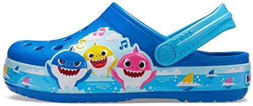 Crocs Kids' Fun Lab Baby Shark Band Clog | Slip On Shark Shoes for Kids, Bright Cobalt, 11 US Little Kid