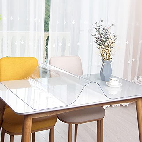 ZXFB Resistente Al Agua Mantel, Cubierta de Mesa Transparente, Antideslizante Resistente Al Calor Manteles para El Hogar Patio Cocina Al Aire Libre