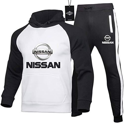Gyulyaydin Herrens Trainingsanzug Jogging Anzug Ni.S-San.s Raglan Zweiteilige Kapuze Sweater + Pants Pullover/B/XL sponyborty