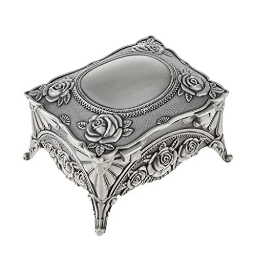 DYXYH Caja de Cofre del Tesoro de joyería metálica Retro,pequeña baratija,Organizador de Recuerdos único,Regalo
