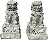 Estatuas de León Guardián Riqueza Porsperidad Par de Fu Foo Perros Estatuas Feng Shui Decoración para la colocación interior