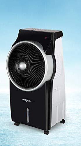 oneConcept Kingcool Summer Vibe - Raffrescatore Evaporativo, Ionizzatore, 95W, 3 Modalitá, Ecologico, Telecomando, Timer, Colore Argento/Nero