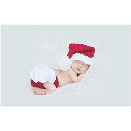 FENICAL Baby Kostüm Outfits Fotografie Requisiten Weihnachten Stricken Häkeln Kleidung Foto Prop Outfits für jungen Mädchen
