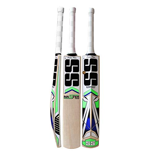 SS Kashmir Willow Leather Ball Cricket Bat, Exclusive Cricket Bat for Adult Full Size with Full Protection Cover (Master 100)