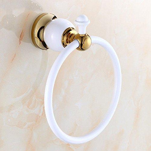 MBYW moderne minimalistische hoge dragende handdoek rek badkamer handdoekenrek Amerikaanse koper witte verf handdoek ring Geschikt voor badkamer, slaapkamer, keuken, kantoor, bar, werkplaats