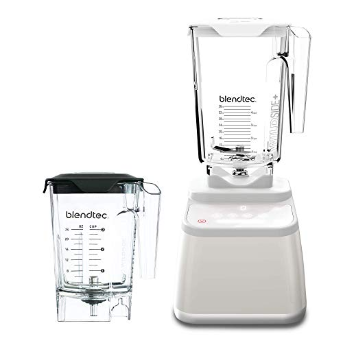 Blendtec Designer 625 Blender with Wildside+ Jar (90 oz) and Mini Wildside+ Jar (46 oz) BUNDLE, Professional-Grade Power, 4 Pre-Programmed Cycles, 6-Speeds, Sleek and Slim