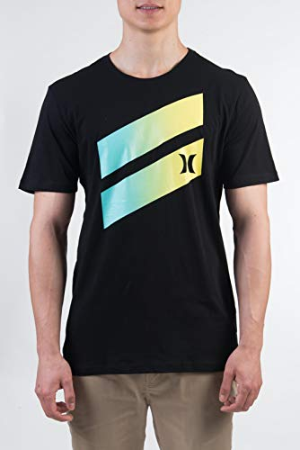 Hurley M Icon Slash Gradient S/S Tee Shirts Homme, Cool Grey Or Black, M