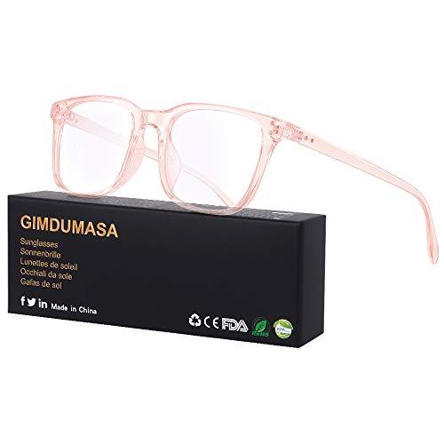 Gimdumasa Blaulichtfilter Brille Computerbrille Pc Gaming Bluelight Filter Uv Blueblocker Glasses Anti Damen Herren Ohne Stärke Entspiegelt (Rosa)