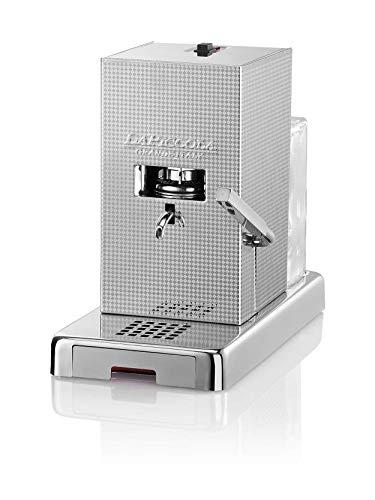 LUCAFFÈ La Piccola Perla, Kaffeemaschine für Kaffeepads, Maße 28x16x31 Kaffeepadete, Silber, geringer Verbrauch, hohe Qualität, Made in Italy + 300 Pads 35 mm Lucaffè