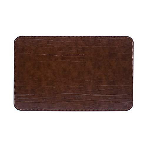 Ser Brunetto - Vade para escritorio de oficina y alfombrilla para ordenador portátil, de piel artesanal, fabricado en Italia, color marrón, 80 x 50 cm