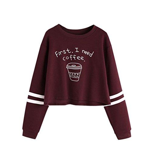 pullover damen bauchfrei E Rot S