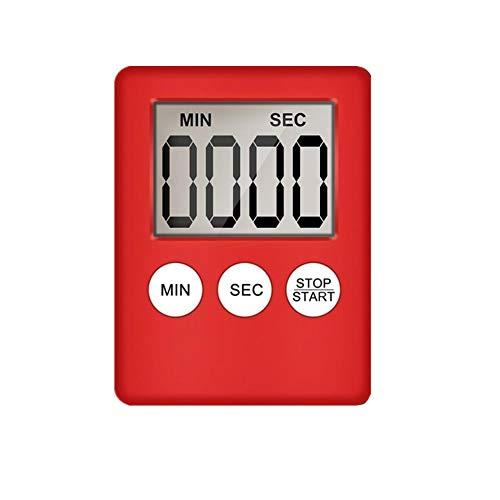 jieqing Temporizador Digital Reloj Cocina Temporizador Reloj Temporizador Temporizadores Temporizador Digital Temporizador de Ducha Red,One Size