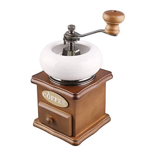 Koffiezetapparaat, Metal de hand gebogen Portable en verstelbare Manual koffiemolen Vintage Style Coffee Bean Machine for thuiskantoor Traveling XIUYU