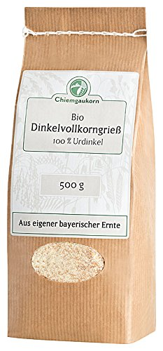 Chiemgaukorn Bio Dinkelgrieß Vollkorn 500 g, Urdinkel