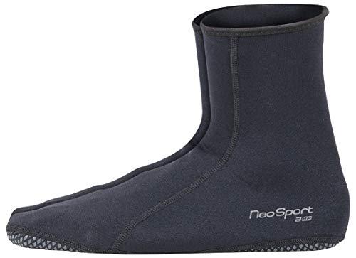 NeoSport Wetsuits Premium Neoprene 2mm Neoprene Water Sock, Black, Size 11