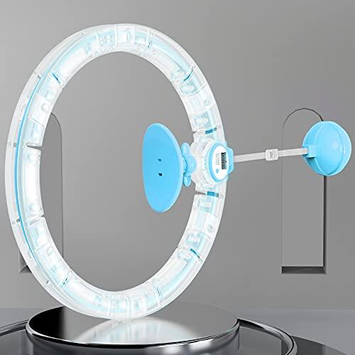 DXINDM Smart Hula Reifen Hoop mit Zähler, 7 Segmente Einstellbar Fitness Hoola Hoop Reifen für Erwachsene Kinder, Easy Hula Hoop der Fällt Nicht, Hoola Hoop Reifen zum Abnehmen Anfänger, Blau
