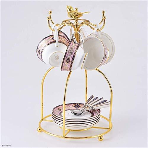 XHZESC Set Kaffeetasse Barock Vogelkäfig Set Europäische kleine Keramik kreative Geschenk Retro Englisch Nachmittagstee-Set Teetasse (Farbe: B)